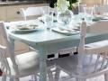 Aqua-and-White-Kitchen-Table