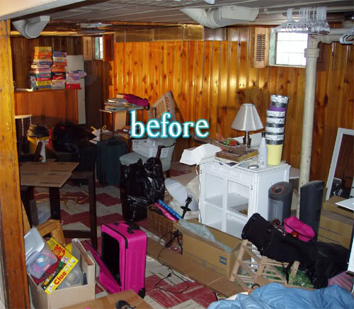 Laurie 39 s basement better after Wood paneling transformation