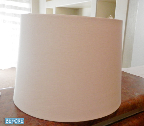 How to Paint a Herringbone Lampshade (sort of)