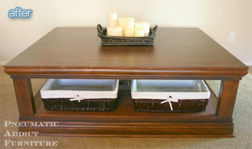 huge coffee table makeover