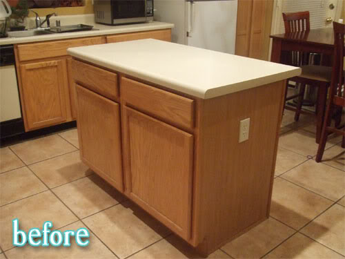 Painted countertops better after for Painting kitchen countertops before and after