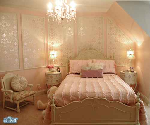 pink princess room after