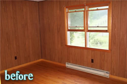 Room by rose better after for Paneling makeover ideas