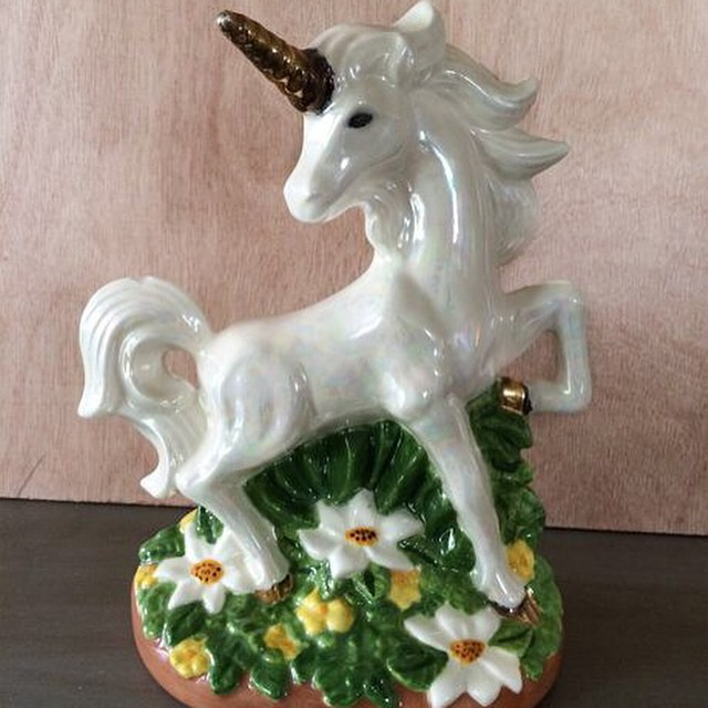 I found this $2.99 Goodwill unicorn and made magic to…