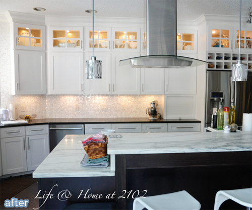 A kitchen do si don 39 t better after What to do with space above cabinets