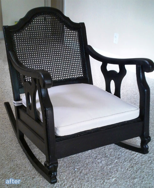 black swirl chair rocker