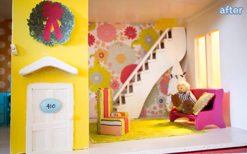 dollhouse staircase makeover