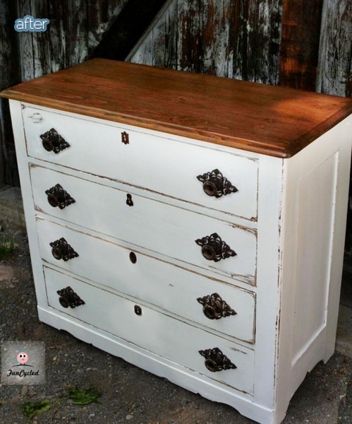 funcycled dresser after