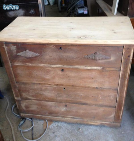 funcycled dresser before