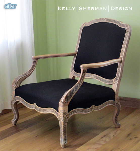 kelly armchair makeover after