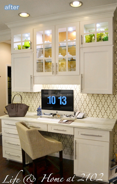 A kitchen do si don 39 t better after for Kitchen office nook