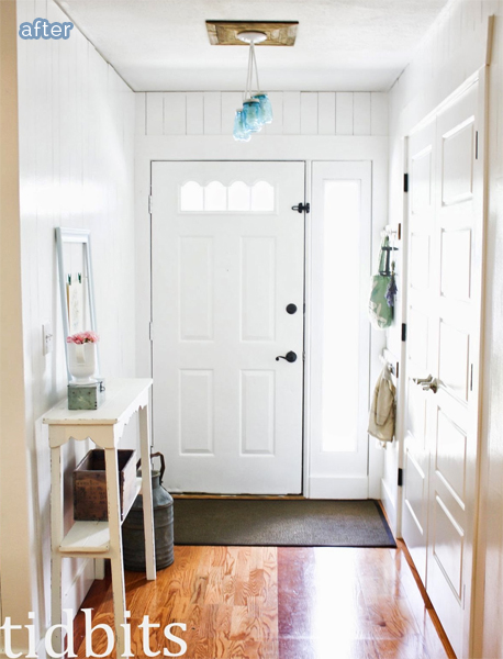 mudroom makeover after