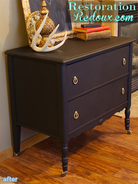 shanna black dresser makeover after