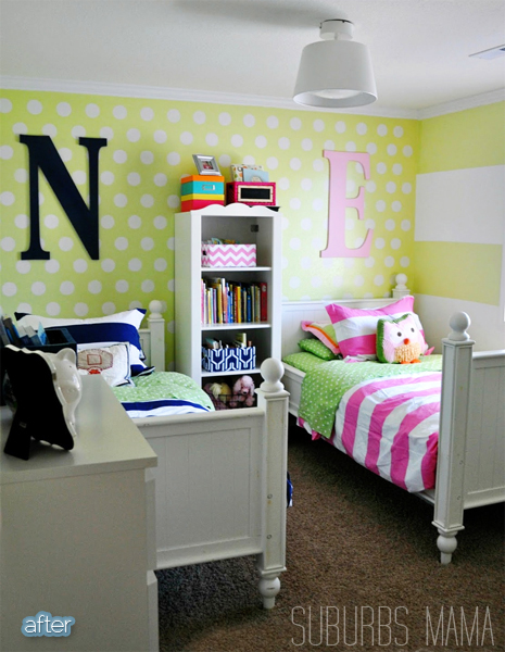 A dual gender bedroom better after for Shared boy and girl room ideas
