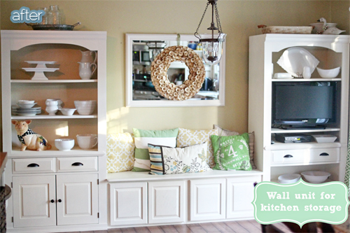 wall unit makeover