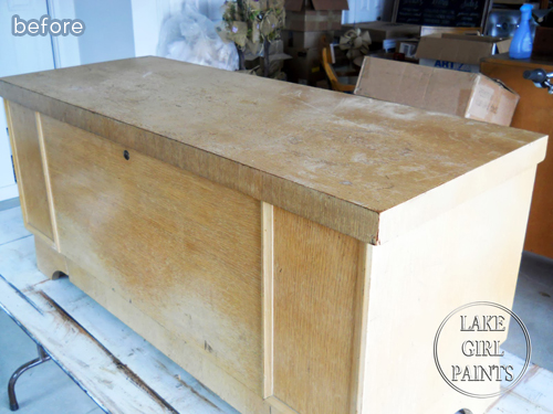 Heirloom cedar chest gets a timeless update.  featured on betterafter.net