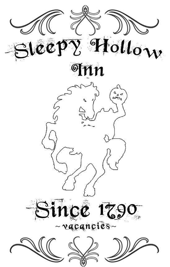 Sleepy Hollow Inn sign tutorial from BetterAfter.net