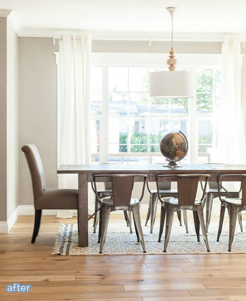 Stunning dining room flip from Rafterhouse on betterafter.net