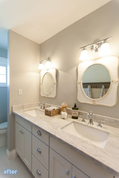 Vintage touches in this bathroom flip from Rafterhouse on betterafter.net