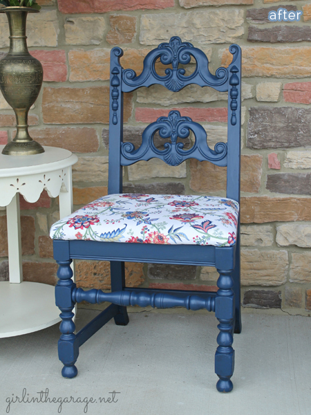 Beautiful ornate chair makeover!  betterafter.net