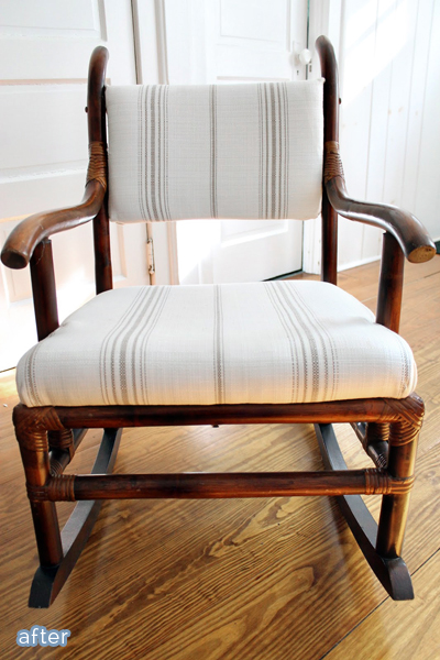 Outdated rocker gets a farmhouse fresh makeover!  betterafter.net