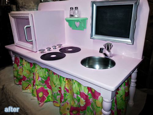 Kid kitchens made from thrift-store furniture!  betterafter.net
