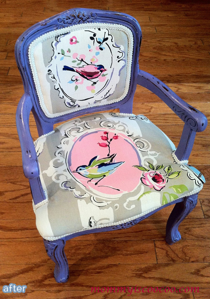 Miniature chair makeover, adorable!  betterafter.net