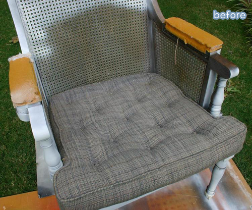 Chevron chair makeover! betterafter.net