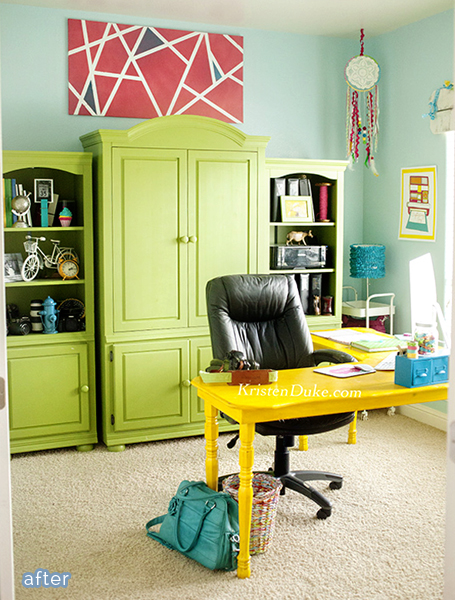 colorful home office. Colorful Home Office. Office Makeover By Kristen Duke Betterafternet P O