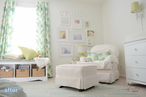 Sweet neutral nursery makeover. betterafter.net