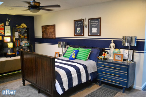 Zoning In – a tween boy bedroom makeover