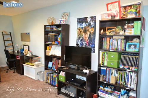 Tween boy bedroom makeover!  betterafter.net