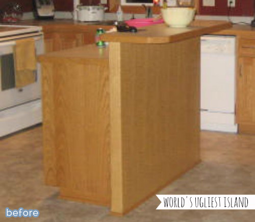 Kitchen island makeover on betterafter.net