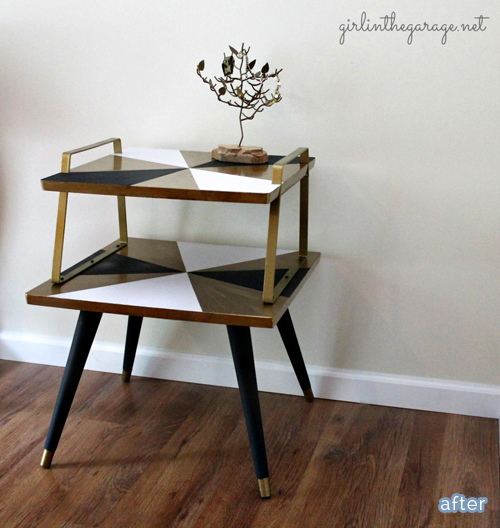 Modern side table and nightstand makeovers at betterafter.net