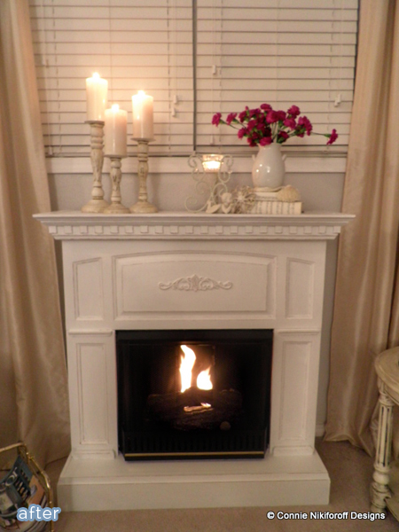 Don't miss this faux fireplace makeover at betterafter.net