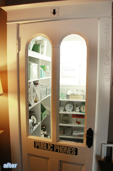 Pantry makeover with custom shelving on betterafter.net