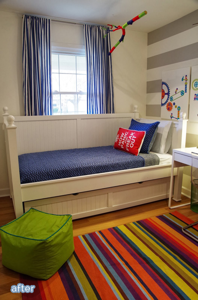 A fun boy bedroom makeover at betterafter.net