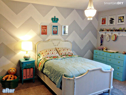 Check out these drastically different makeovers, with one thing in common: Chevrons! At betterafter.net