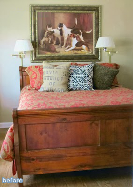 A beautiful bedroom with a lot of patterns and textures at betterafter.net