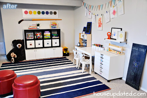 Get creative in this colorful kids playroom at betterafter.net