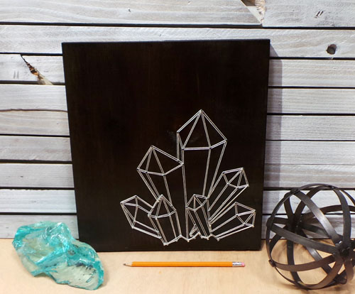 Faceted Crystal String Art