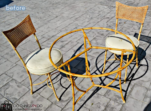 Cute outdoor furniture makeovers on betterafter.net