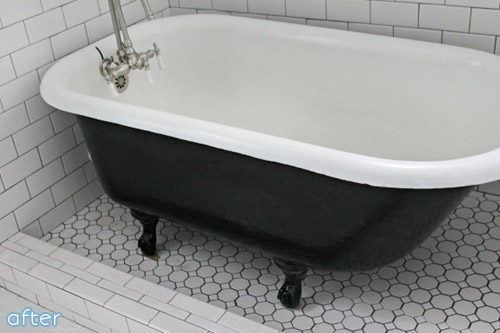 cast iron tub makeover on betterafter.net
