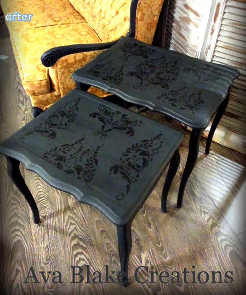 Not your average nesting table makeover at betterafter.net