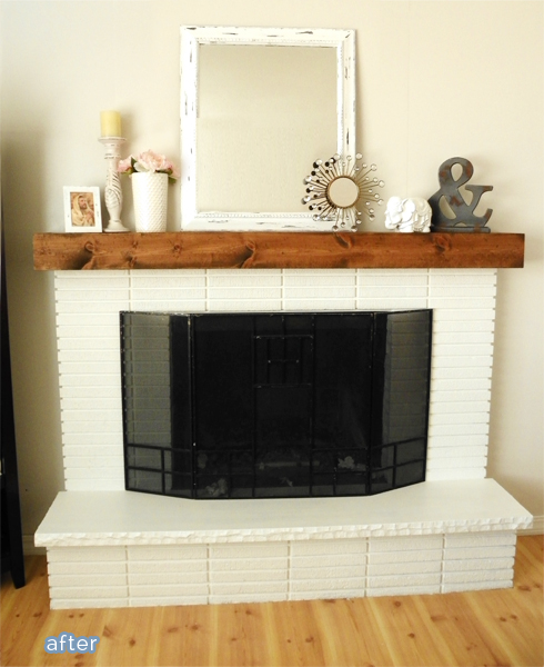 Check out this fireplace makeover at betterafter.net