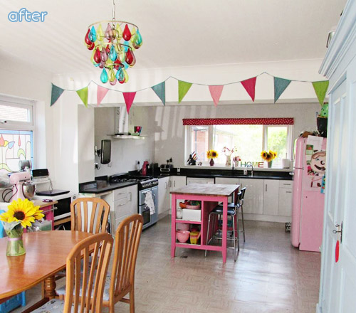 Bright kitchen makeover at betterafter.net