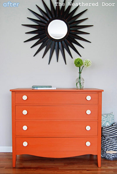 Love bright colors? Don't miss this bright orange makeover at betterafter.net