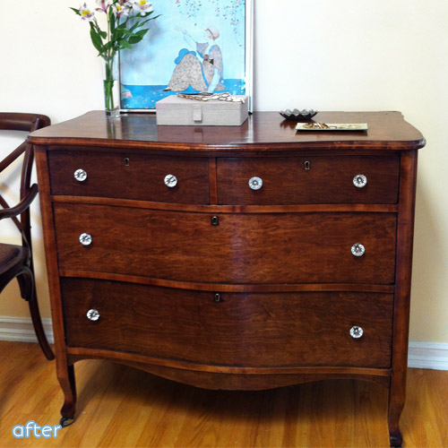 gorgeous refinishing job on a $30 craigslist dresser | betterafter.net |