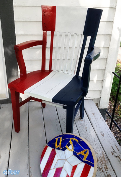 4th of july chair after