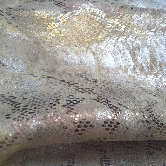 Playing around with some ultra-fabulous snakeskin embossed leather today. Hmmm, what to do, what to do? #tooprettytocut ✂